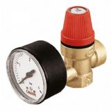 3 Bar Pressure Relief Valve 1/2 with Gauge - 07000012